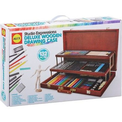 Alex Art Studio Expressions Deluxe Wooden Drawing Case