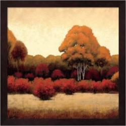 Metaverse Art Autumn Forest I Framed Wall Art, Brown
