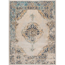 KHL Rugs Journey Yadira Framed Floral Rug, Multi None