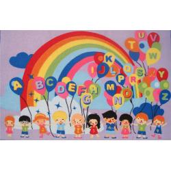 Fun Rugs Fun Time Educational Balloons Rug, Multicolor