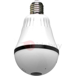 1080P Wifi Wireless IP Bulb Security Camera with Fisheye Lens 360 Panoramic for Remote Home Security System