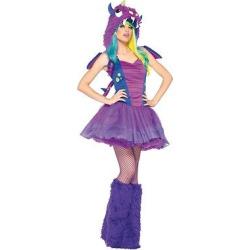Women's Darling Dragon Costume, Purple