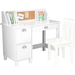 Study Desk with Drawers White – KidKraft
