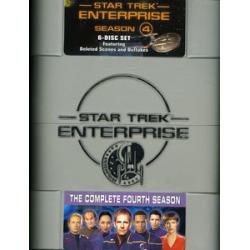 Star Trek: Enterprise – The Complete Fourth Season [6 Discs] [WS] [TVShow] [Hard Outer Plastic Case – Blue]