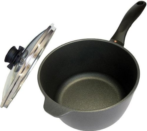 Swiss Diamond Cast-Aluminum Nonstick 3.2-Quart Saucepan with Lid