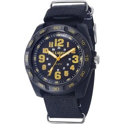 Men's U.S. Army C42 Backlight Watch By Wrist Armor, Black And Yellow Dial, Black Nylon Strap, Size: Small, Gray