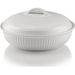 Mikasa Italian Countryside 8.8-in. Oval Baking Dish, White
