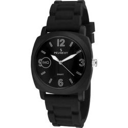 Peugeot LinQ Bluetooth Sports Smart Watch – Black, Men's, Matte Black