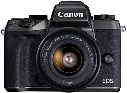 Canon EOS M5 Mirrorless Camera Kit 15-45mm Lens Kit – Wi-Fi Enabled & Bluetooth