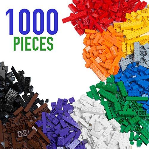 Barcaloo Building Bricks – 1,000 Piece Brick Building Kit – Compatible with all Major Brands