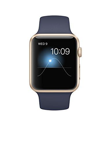 Apple Watch Gen 1 Sport 42mm Gold Aluminum – Midnight Blue Sport Band MLC72LL/A