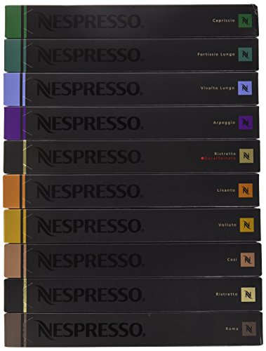 Nestle Nespresso Nespresso OriginalLine Capsules Variety, 100 Capsules NOT compatible with Vertuoline machines