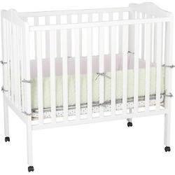 Delta Children Portable Mini Crib – White