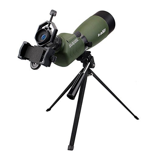 SVBONY 20-60×60/25-75x70mm Shooting Spotting Scope Bak4 Prism Spotting Scope Telescope IP65 Waterproof FMC Optical Lens with Tripod and Phone Adapter