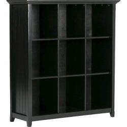 Acadian 9 Cube Bookcase & Storage Unit Black – Simpli Home