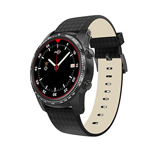 AllCall W1 Bluetooth Smart Watch Android 5.1 2GB RAM 16GB ROM 3G/2G Watch-Phone MTK6580m Quadcore Heart Rate Sport GPS Call Notification Pedometer Alarm Metal Body MP3 MP4 WiFi