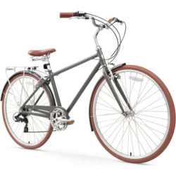 Men's sixthreezero Ride in the Park 26-Inch Touring City Bike, Grey