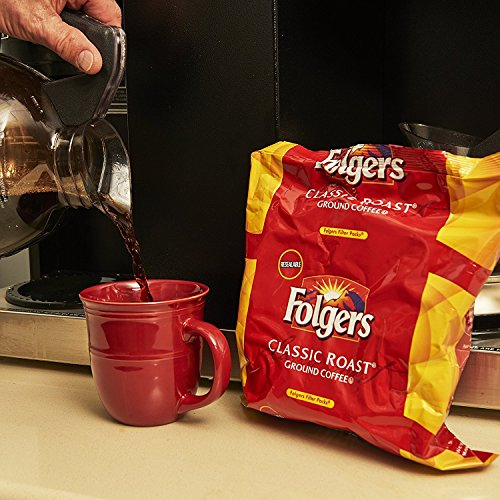 Folgers Classic Roast Ground Coffee, Filter Packs, (0.9 oz, 40 ct.) (pack of 6)