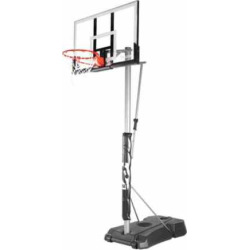 Spalding 52-in. Acrylic Portable Basketball Hoop, Multicolor