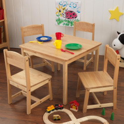 KidKraft Farmhouse Table and Chair Set, Multicolor