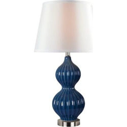 Kenroy Home Thomas Table Lamp, Blue