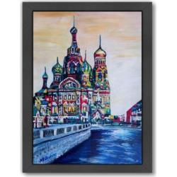 Americanflat Saint Petersburg Framed Wall Art, Multicolor