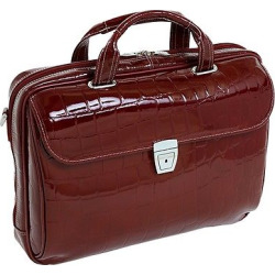 McKlein Siamod Servano-Italian Croco Leather Bag – Cherry Red