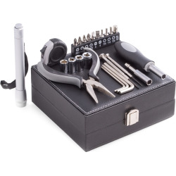 Bey Berk 25-pc. Multi Tool Set, Black