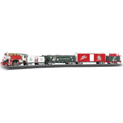 Bachmann Trains A Norman Rockwell Christmas Train HO Scale Ready To Run Electric Train Set, Multicolor