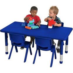 ECR4Kids Resin Chair & Table Set Blue