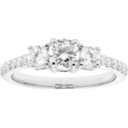 Platinum 1 Carat T.W. IGL Certified Diamond 3-Stone Engagement Ring, Women's, Size: 7, White