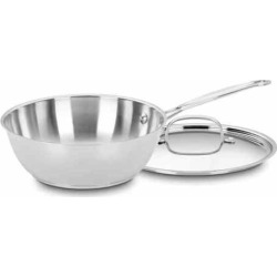 Cuisinart Chef's Classic Stainless Steel 3-qt. Chef's Pan, Grey