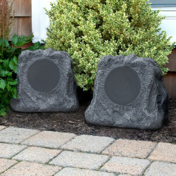 Innovative Technology Natural Outdoor Rock Speaker Set, Multicolor