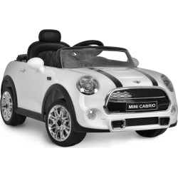 Kid Motorz Mini 6V Cabrio F57 Ride-On Vehicle, White