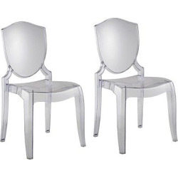 Odessa Ghost Chair Plastic/Clear (Set of 2) – Inspire Q