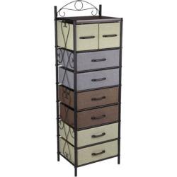 Household Essentials 8-Drawer Tower, Black
