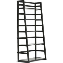 Acadian Ladder Shelf Bookcase Black – Simpli Home