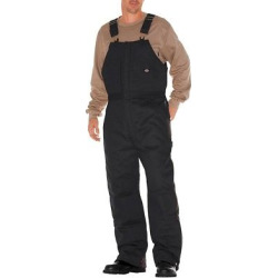 Dickies Men's Canvas Insulated Bib Overall- Black Medium Short, Size: M Short