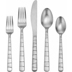 Oneida Satin Logan Square 45-piece Flatware Set, Silver