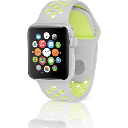 Apple Watch Series 2 Nike+ 42mm Silver Case w/ Sport Band – Flat Silver / Volt (Pre-Owned)