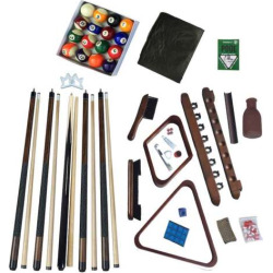 Hathaway Deluxe Billiards Walnut Finish Accessory Kit, Multicolor