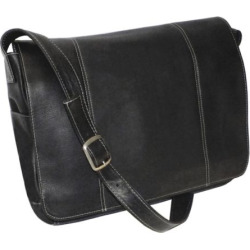 Royce Leather Vaquetta 13-in. Laptop Messenger Bag, Black