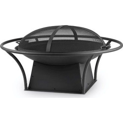 Parker 38.75 Wood Burning Fire Bowl – Round – Real Flame, Black
