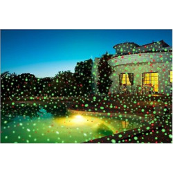Viatek Night Star Landscape Lighting Premium Series – Red and Green Lasers with Spotlight, Black