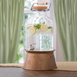 Corona 3-Gallon Beverage Dispenser with Stand, Clrs