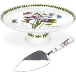 Portmeirion Botanic Garden 2-pc. Cake Plate & Server Set, White