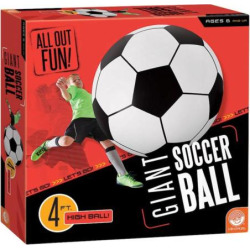 MindWare Giant Inflatable Soccer Ball, Multicolor