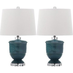 Turquoise Table Lamps (Set of 2) – Safavieh, Blue/White