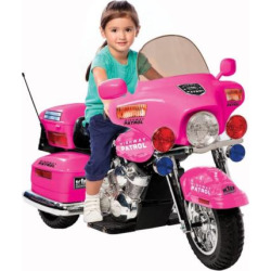 National Products Police Motorcycle Ride-On – Pink