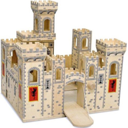 Melissa and Doug Folding Medieval Castle, Multicolor